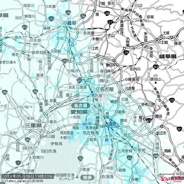 名古屋の天気(雨) 降水強度: 1.55(mm/h)  2018年05月06日 19時20分の雨雲 https://t.co/cYrRU9sV0H #雨雲bot #bot https://t.co/CHBUph4zlU