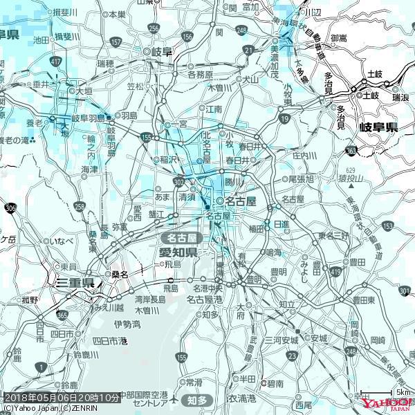 名古屋の天気(雨) 降水強度: 2.88(mm/h)  2018年05月06日 20時10分の雨雲 https://t.co/cYrRU9sV0H #雨雲bot #bot https://t.co/fOd7ZVvnrc