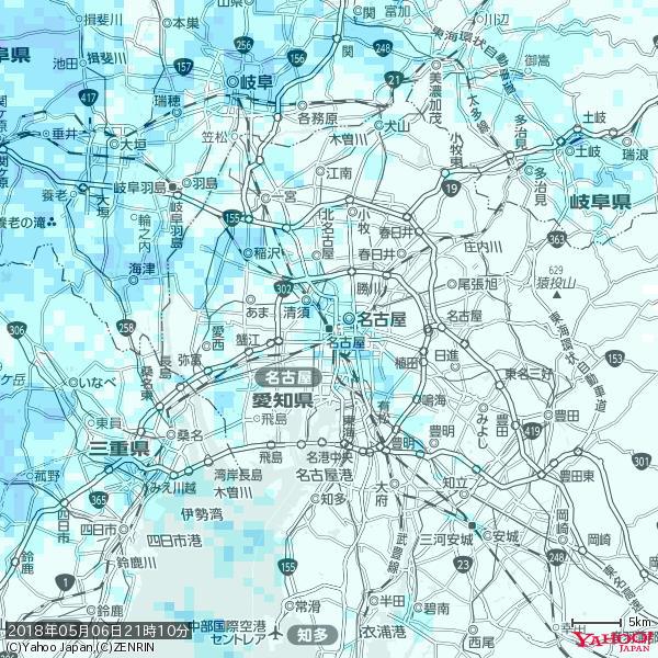 名古屋の天気(雨) 降水強度: 1.25(mm/h)  2018年05月06日 21時10分の雨雲 https://t.co/cYrRU9sV0H #雨雲bot #bot https://t.co/4TZsXrWLUq