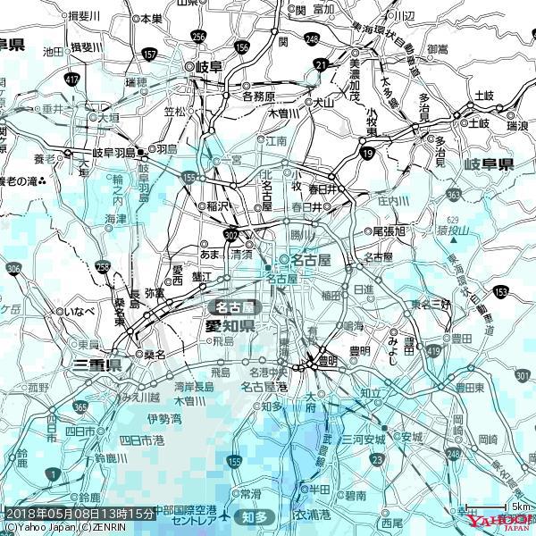 名古屋の天気(雨) 降水強度: 1.15(mm/h)  2018年05月08日 13時15分の雨雲 https://t.co/cYrRU9sV0H #雨雲bot #bot https://t.co/m40j9mXTx9