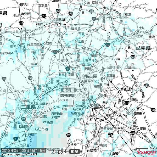 名古屋の天気(雨) 降水強度: 0.75(mm/h)  2018年05月08日 15時45分の雨雲 https://t.co/cYrRU9sV0H #雨雲bot #bot https://t.co/5BPYhVG7xV