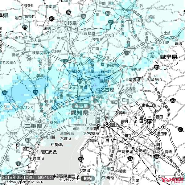名古屋の天気(雨) 降水強度: 3.38(mm/h)  2018年05月08日 15時45分の雨雲 https://t.co/cYrRU9sV0H #雨雲bot #bot https://t.co/OA4IMFr6fn