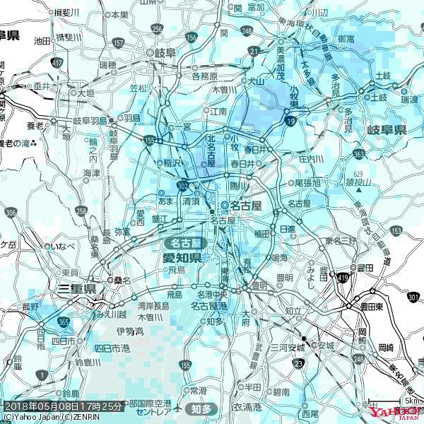 名古屋の天気(雨) 降水強度: 1.75(mm/h)  2018年05月08日 17時25分の雨雲 https://t.co/cYrRU9sV0H #雨雲bot #bot https://t.co/xe5K3RYxbH