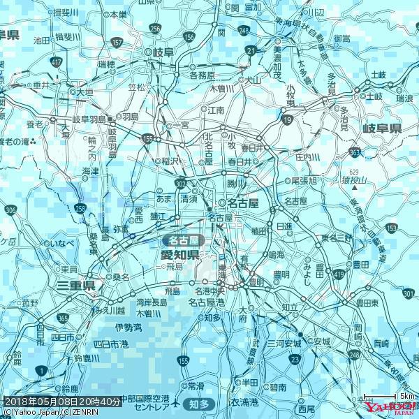 名古屋の天気(雨) 降水強度: 1.55(mm/h)  2018年05月08日 20時40分の雨雲 https://t.co/cYrRU9sV0H #雨雲bot #bot https://t.co/KoXNiPms77