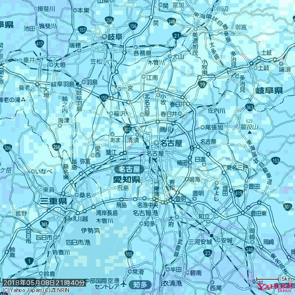 名古屋の天気(雨) 降水強度: 3.63(mm/h)  2018年05月08日 21時40分の雨雲 https://t.co/cYrRU9sV0H #雨雲bot #bot https://t.co/L6Q2NQNOej