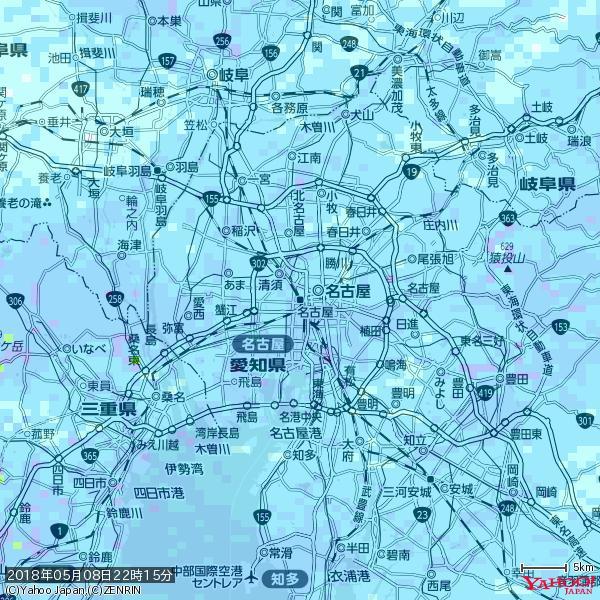 名古屋の天気(雨) 降水強度: 5.75(mm/h)  2018年05月08日 22時15分の雨雲 https://t.co/cYrRU9sV0H #雨雲bot #bot https://t.co/yLvaxCmHiw
