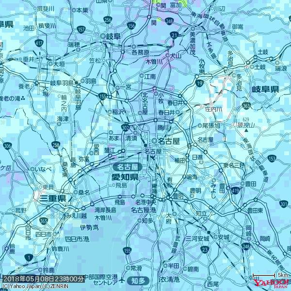 名古屋の天気(雨) 降水強度: 3.88(mm/h)  2018年05月08日 23時00分の雨雲 https://t.co/cYrRU9bk99 #雨雲bot #bot https://t.co/NRZk0dn14s