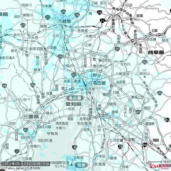 名古屋の天気(雨) 降水強度: 2.88(mm/h)  2018年05月23日 09時10分の雨雲 https://t.co/cYrRU9sV0H #雨雲bot #bot https://t.co/Owj2avMliu