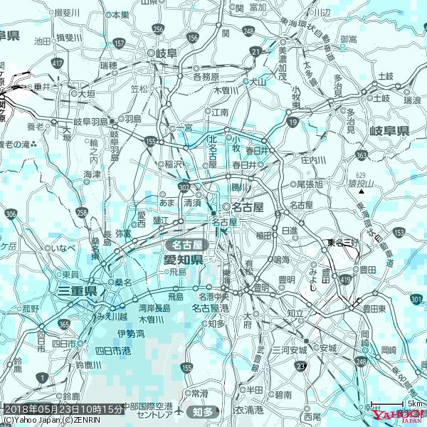 名古屋の天気(雨) 降水強度: 1.25(mm/h)  2018年05月23日 10時15分の雨雲 https://t.co/cYrRU9sV0H #雨雲bot #bot https://t.co/6SjIp8JCpU
