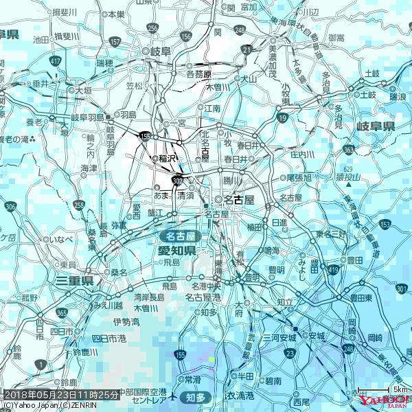 名古屋の天気(雨) 降水強度: 1.65(mm/h)  2018年05月23日 11時25分の雨雲 https://t.co/cYrRU9sV0H #雨雲bot #bot https://t.co/Xor8NgOXKN