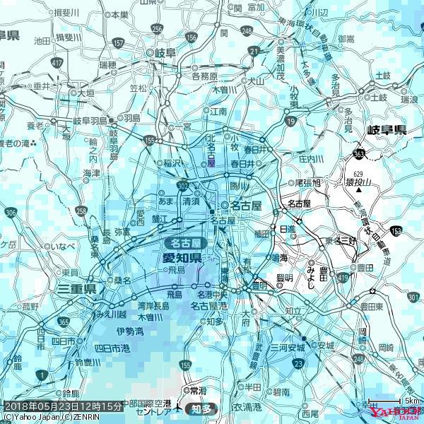 名古屋の天気(雨) 降水強度: 3.38(mm/h)  2018年05月23日 12時15分の雨雲 https://t.co/cYrRU9sV0H #雨雲bot #bot https://t.co/2OjAA5kVhe