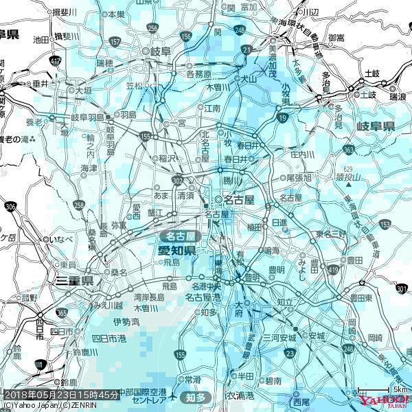 名古屋の天気(雨) 降水強度: 1.15(mm/h)  2018年05月23日 15時45分の雨雲 https://t.co/cYrRU9sV0H #雨雲bot #bot https://t.co/7oSCmKIRDs
