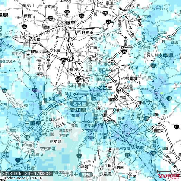 名古屋の天気(雨) 降水強度: 5.25(mm/h)  2018年05月23日 17時30分の雨雲 https://t.co/cYrRU9sV0H #雨雲bot #bot https://t.co/uKmWHsUdhq