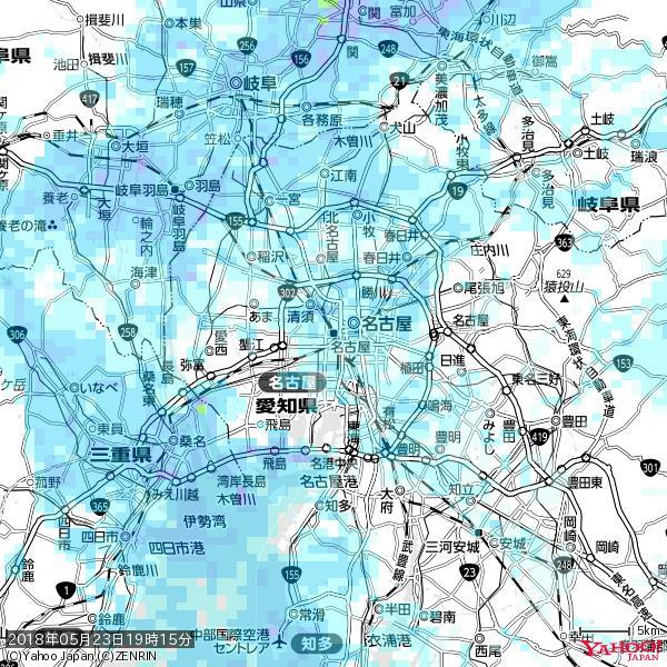 名古屋の天気(雨) 降水強度: 3.13(mm/h)  2018年05月23日 19時15分の雨雲 https://t.co/cYrRU9sV0H #雨雲bot #bot https://t.co/7niq2WL6E8