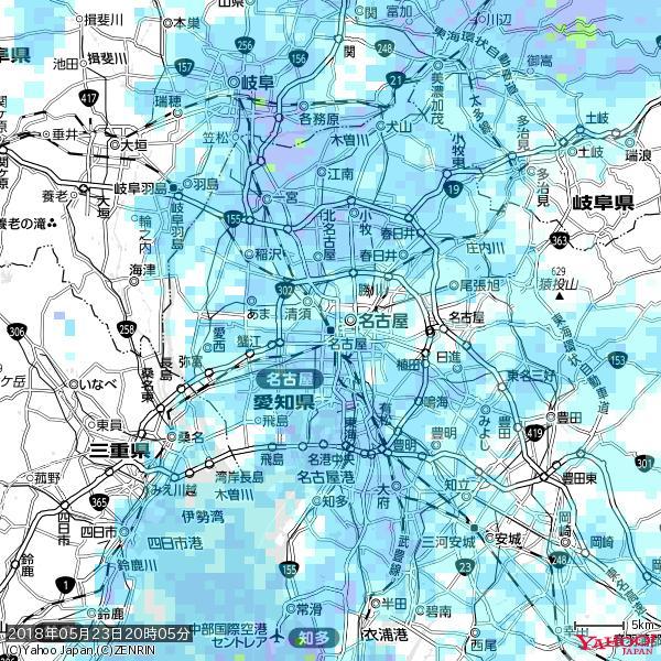 名古屋の天気(雨) 降水強度: 5.75(mm/h)  2018年05月23日 20時05分の雨雲 https://t.co/cYrRU9sV0H #雨雲bot #bot https://t.co/zRtA33MK8W