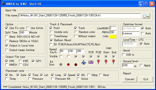 Gpx to kmz kml converter bittorrentwee for Kmz to dxf
